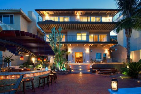3819 Paseo De Las Tortugas backyard night shot12 -back of the house
